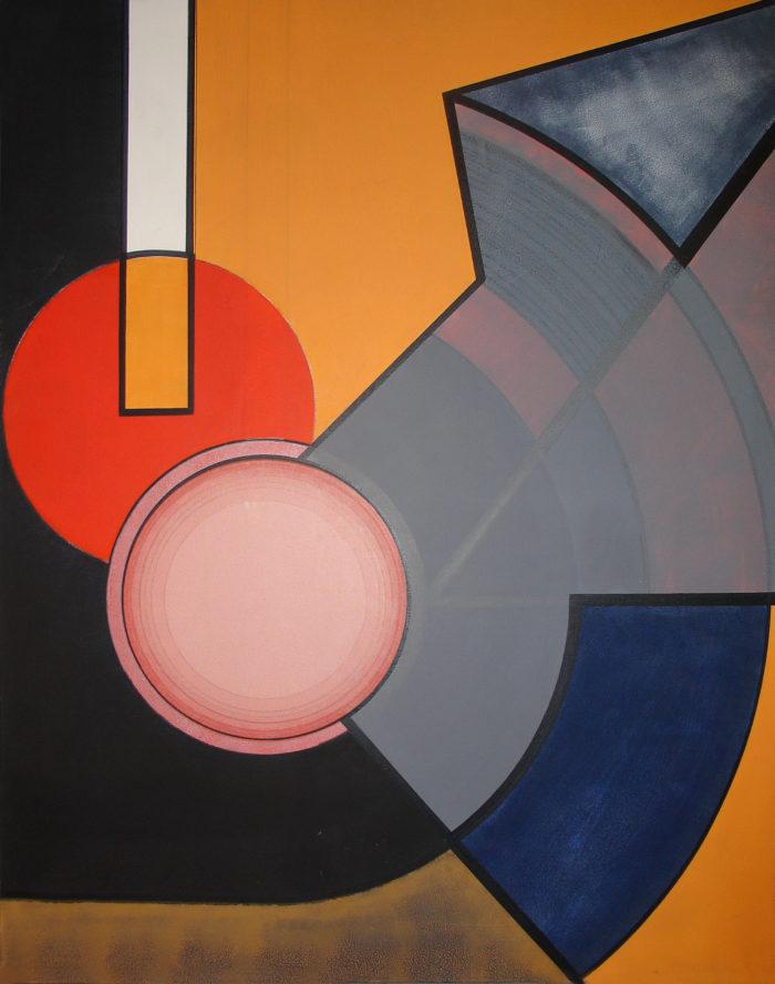 13.Nil Yalter Circular Tension, 1967 Acryl auf Leinwand 150 x 125 cm © Nil Yalter Foto: Galerie Hubert Winter, Wien