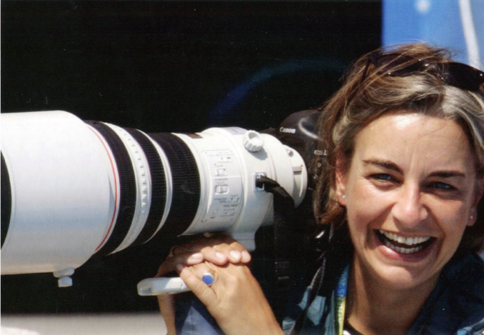 Anja Niedringhaus bei den Olympischen Spielen 2004 in Athen © Jerry Lampen