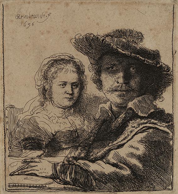 Rembrandt Harmensz. van Rijn Selbstbildnis mit Saskia