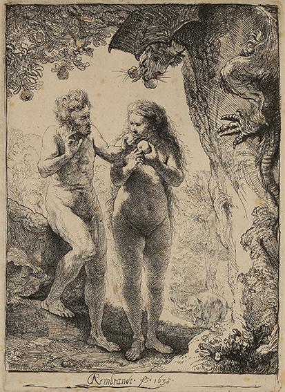 Rembrandt Harmensz. van Rijn Adam und Eva