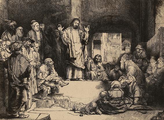 Rembrandt Harmensz. van Rijn Christus predigend (gen. La petite tombe)