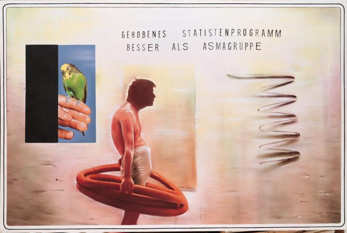 Ohne Titel (aus der Serie Lieber Maler, male mir) 1981 Acryl auf Leinwand Private Collection