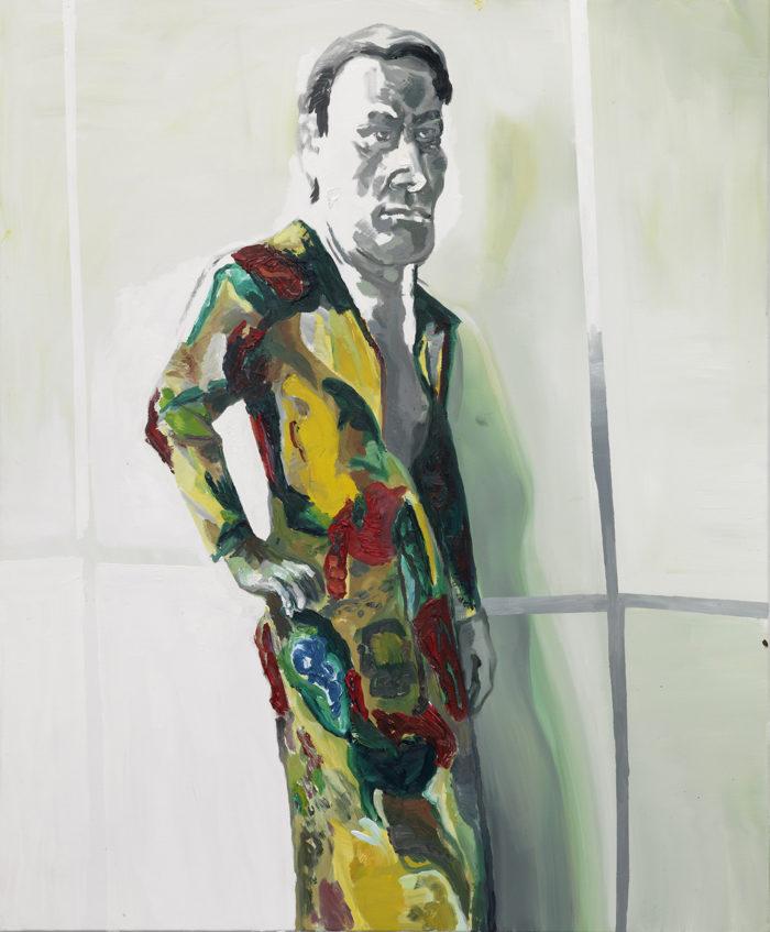 Ohne Titel: Martin Kippenberger (aus der Serie Window Shopping bis 2 Uhr nachts) 1996 Öl auf Leinwand Private Collection